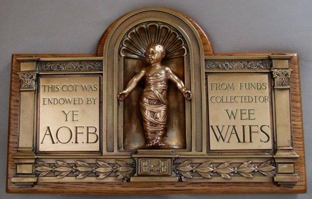 A.O.F.B. cot plaque