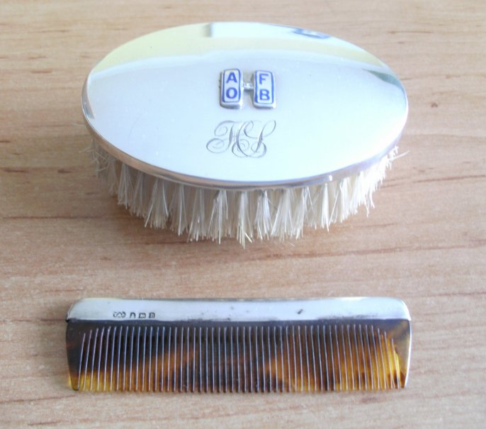 Brush and comb out of the case