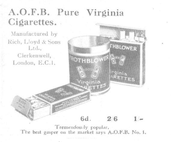 Cigarettes ad