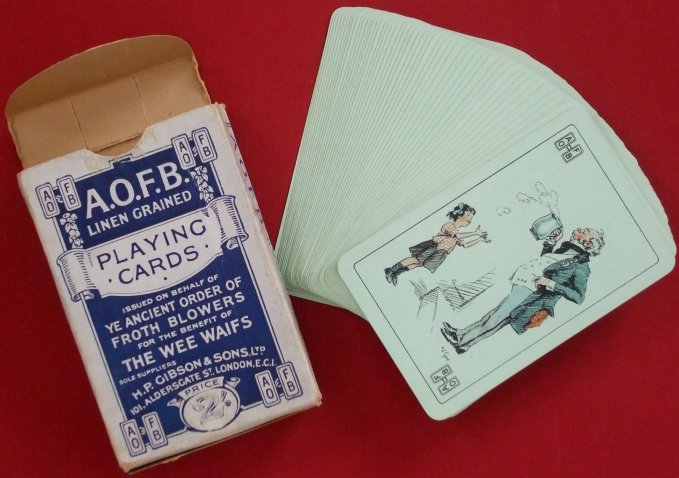 AOFB playing cards including box
