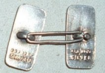 Early 'single link' coupled cufflink
