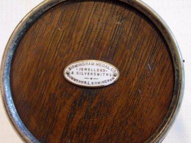 Oast box bottom showing Bimingham Medal Co plaque