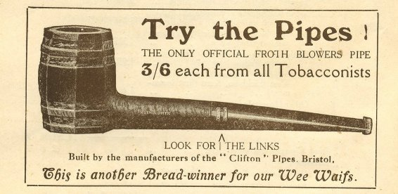 Tobacco pipe ad