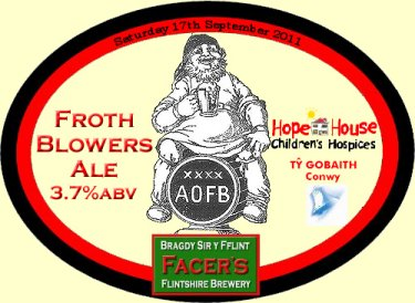 Facers Frothblowers ale pump clip