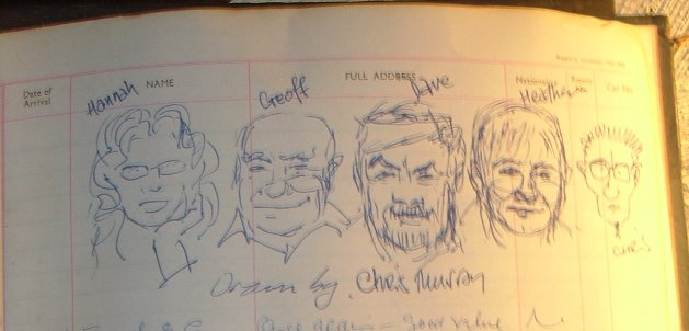 Chris Murrays guestbook sketch