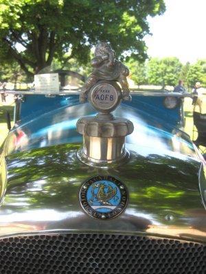 AOFB Car mascot adorning a 1921 Vauxhall